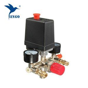 Pressostato del compressore d'aria a 1 porta 125psi con manometri di regolazione