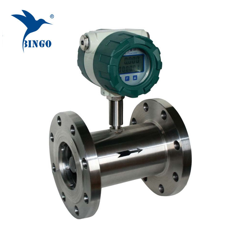 Sensore di portata del flussometro a turbina dell'acqua 4-20mA
