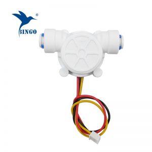 g1 / 4 pe tubo 0.2-8l / min Sensore di flusso dell'acqua 3,5-12vdc