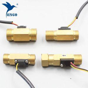 Interruttore di flusso dell'acqua G12 Sensore di flusso di acqua liquido effetto Hall in rame